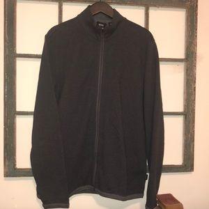 Men's Hugo Boss Gray Zippered Cardigan Sz XL